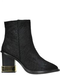 Kat Maconie - Paloma Reptile Print Suede Boots - Lyst