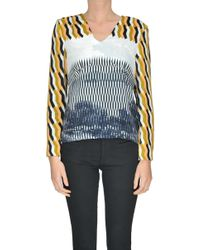 Dries Van Noten - Printed Velvet Top - Lyst