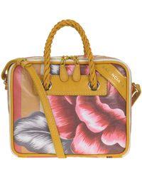 Balenciaga - Flower Print Leather Bag - Lyst