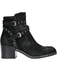 Janet & Janet - Studded Suede Ankle Boots - Lyst