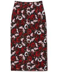 Rochas - Flower Print Skirt - Lyst