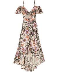 Temperley London - Safari Printed Wrap Dress - Lyst