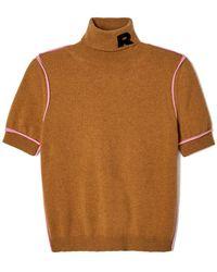 Rochas - Short-sleeve Turtleneck Cashmere Sweater - Lyst