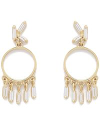 Suzanne Kalan - Diamond Circle Dangle Earrings - Lyst