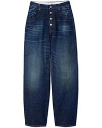 MM6 by Maison Martin Margiela - High-waisted Button-down Jeans - Lyst