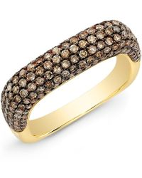 Anne Sisteron - Champagne Diamond Square Ring - Lyst