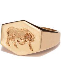 Kim Dunham - Zodiac Sign Gold Rings - Lyst