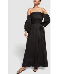 Lisa Marie Fernandez - Rosie Linen Bubble-sleeve Dress - Lyst