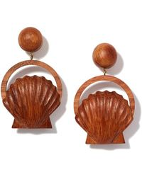 Rebecca de Ravenel - Venus Wood Earrings - Lyst