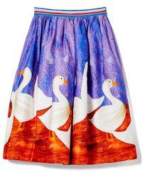 Stella Jean - Skirt With Ducks - Lyst