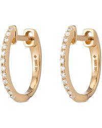 Ariel Gordon - Pavé Diamond Huggies Earring - Lyst