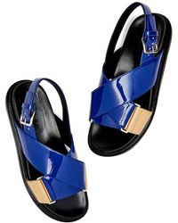 Marni - Fussbett Patent Leather Sandals - Lyst