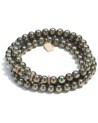 Sheryl Lowe - Pyrite Wrap Bracelet - Lyst
