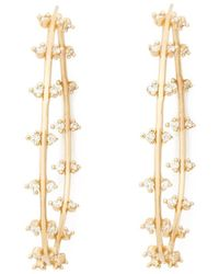 Sophie Ratner - Double Row Diamond Hoops Earring - Lyst