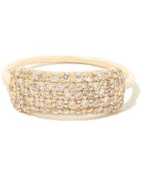 Sophie Ratner - Diamond Studded Yellow-gold Tag Ring - Lyst