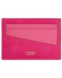 Vianel - Personalized V3 Suede Cardholder - Lyst