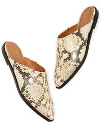 Atp Atelier - Anzi Printed Snake Mules - Lyst