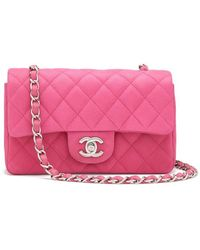 2816235f104f What Goes Around Comes Around - Chanel Pink Caviar Half-flap Leather Bag -  Lyst
