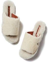 Avec Moderation - Sapporo Shearling Slides Sandal, Size It 36 - Lyst