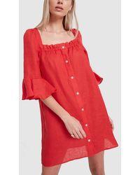 1301560aa68 Sleeper - Jane Linen Mini Dress - Lyst