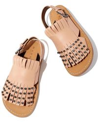 Marni - Light-pink Jeweled Sandals - Lyst