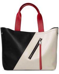 Elena Ghisellini - Orion Medium Black-ivory Handbag - Lyst