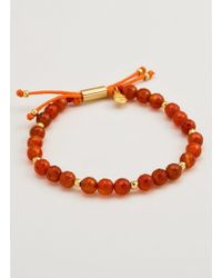 Gorjana & Griffin - Power Gemstone Orange Agate Beaded Bracelet For Confidence - Lyst