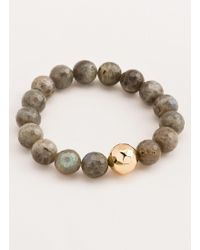 Gorjana & Griffin - Power Gemstone Blue Lace Agate Statement Bracelet - Lyst