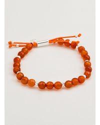 Gorjana & Griffin - Power Gemstone Orange Agate Beaded Bracelet For Confidence - Lyst