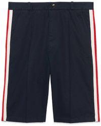 Gucci - Shorts mit Web - Lyst