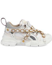 Gucci - Sneaker Flashtrek con cristalli staccabili - Lyst