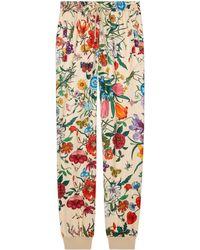 Gucci - Pantalone da jogging con stampa Flora - Lyst