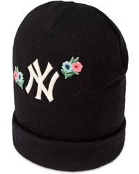e38e88d6ac908 Gucci - Wool Hat With Ny Yankees    Patch - Lyst