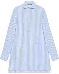 Lyst - Camisa de fil coupé con motivos Kingsnake Gucci de hombre de ... 4d8f40281fc
