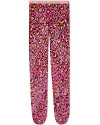 Gucci - Collants en dentelle GG à imprimé léopard - Lyst