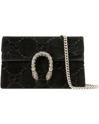 Gucci - Dionysus GG Velvet Super Mini Bag - Lyst