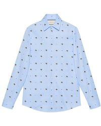 Gucci - Ufo And Symbols Fil Coupé Shirt - Lyst