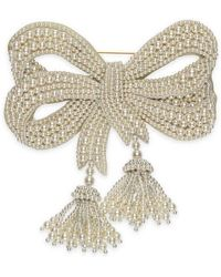 Gucci - Resin Pearl Bow Brooch - Lyst