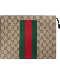 1bbb32b6126 Gucci Signature Web Messenger Bag in Blue for Men - Lyst