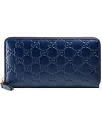 cdfaa1e8ea01 Lyst - Gucci Swing Leather Continental Wallet in Black