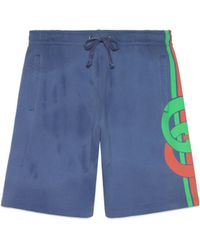 Gucci - Shorts con stampa GG - Lyst