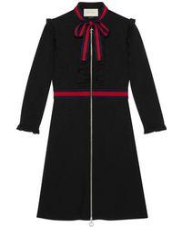 ae833390d Gucci Stretch Viscose Jersey Dress in Black - Lyst