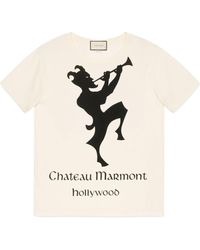 Gucci - T-shirt oversize à imprimé Chateau Marmont - Lyst