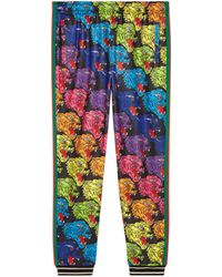 Gucci - Panther Face Technical Jersey Jogging Pant - Lyst