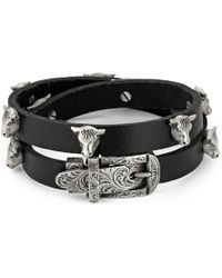Gucci - Anger Forest Double Wrap Leather Bracelet - Lyst