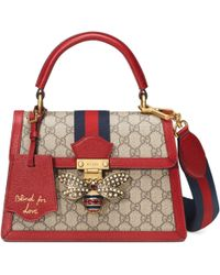 be35b5f14f5d2 Gucci Signature Leather Top Handle Bag in Pink - Lyst
