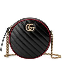 738e8c8e90d Lyst - Gucci Gg Marmont Shoulder Bag With Pouch in Black