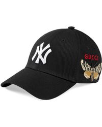 Gucci Baseball Cap With Ny Yankeestm Patch - Black