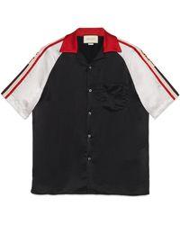 Gucci - Camisa Bowling de Acetato con Rayas - Lyst