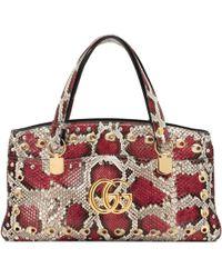 79921eb7390 Gucci - Arli Large Python Top Handle Bag - Lyst